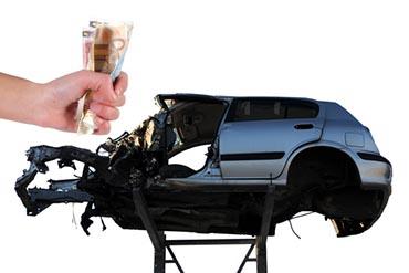 Autowrack Schrottauto Recyling Verkauf gegen Bargeld